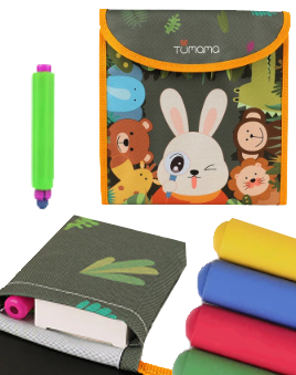 tumama-kids-reusable-portable-coloring-chalkboard-animal-marine-life-drawing-doodle-blackboard-package