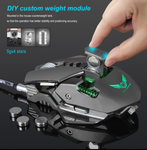 zerodate-usb-wired-competitive-gaming-mouse-with-mechanical-programmable-buttons-custom-weight-module