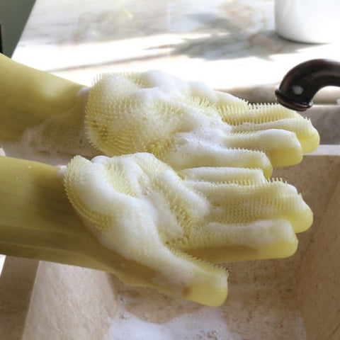 Silicone Dish Washing and Cleaning Gloves