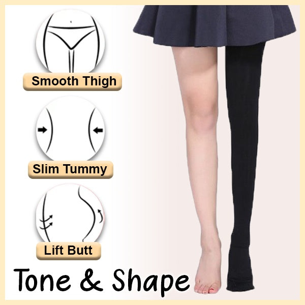 2 Size Down Compression Pantyhose