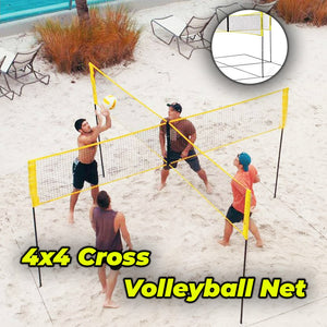 4×4 Cross Volleyball Net