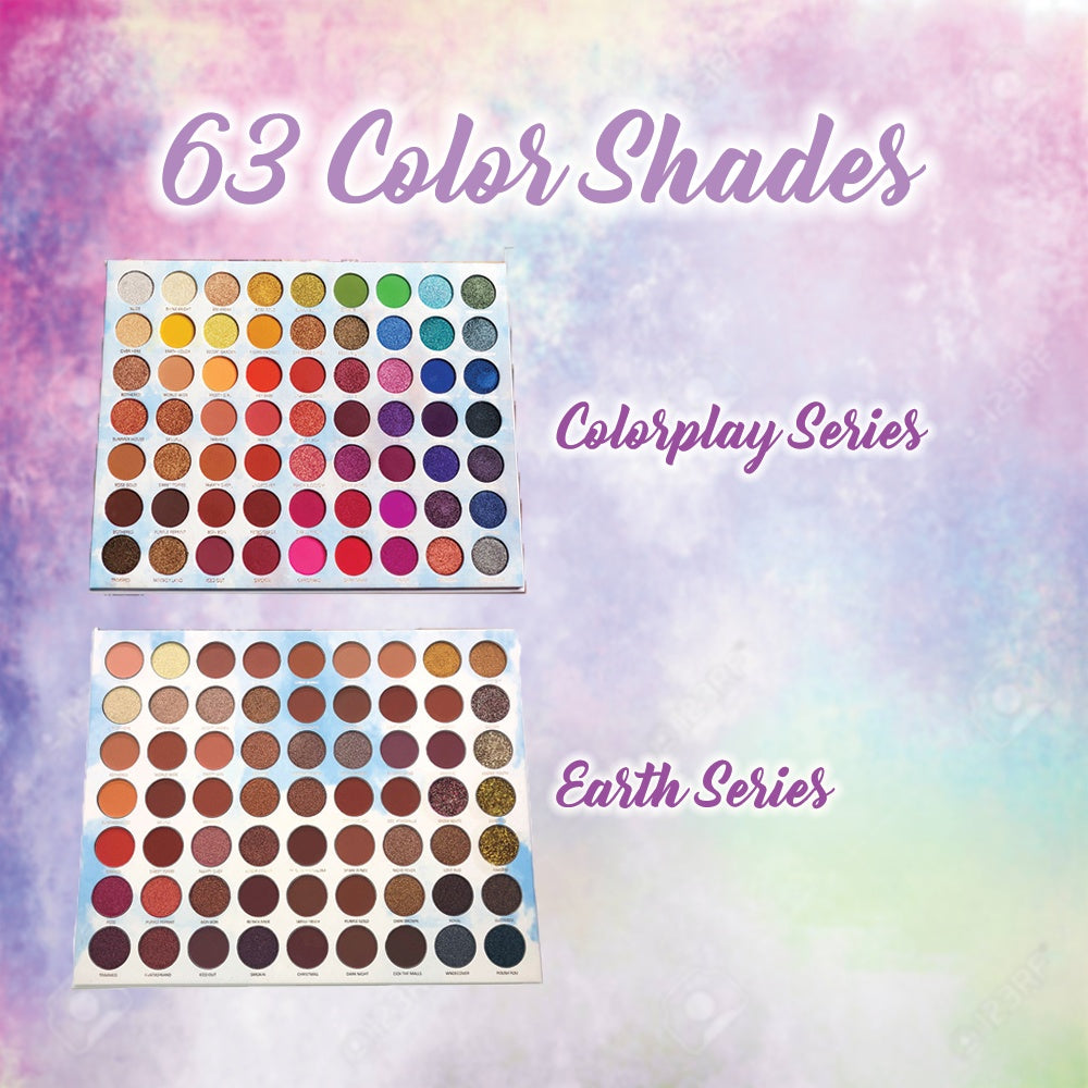 63 Colors Stylish Waterproof Eye Shadow Palette