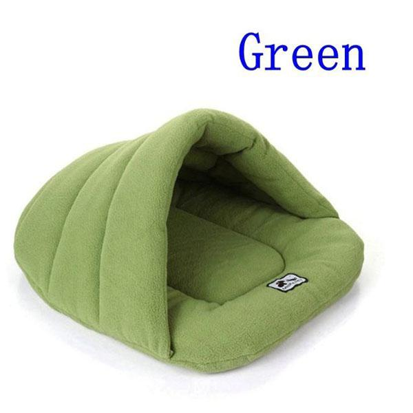 Animals & Pet Supplies > Pet Supplies > Dog Supplies > Dog Beds - Soft Polar Fleece Pet Mat Winter Warm Nest Pet Sleeping Bag House Puppy Cave