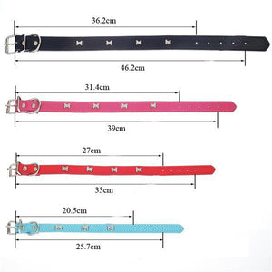 Animals & Pet Supplies > Pet Supplies > Pet Collars & Harnesses - Pet Dog Bone Collar Adjustable Strap 5 Colors