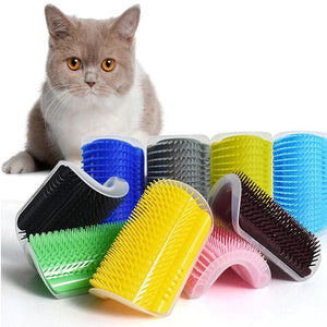Animals & Pet Supplies > Pet Supplies > Pet Grooming Supplies > Pet Combs & Brushes - Cat Self Grooming Tool Hair Removal Comb Dog Cat Hair Brush Shedding And Trimming Massage Device With Catnip