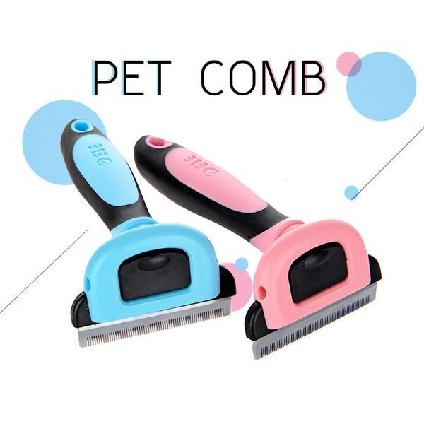 Animals & Pet Supplies > Pet Supplies > Pet Grooming Supplies > Pet Combs & Brushes - Dog Cat Hair Remover Brush Grooming Tools Detachable Clipper Attachment