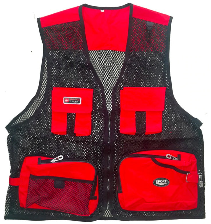 Apparel & Accessories > Clothing > Activewear > Hunting Clothing > Hunting & Fishing Vests - Outdoor Fishing Vest With Multi Pockets