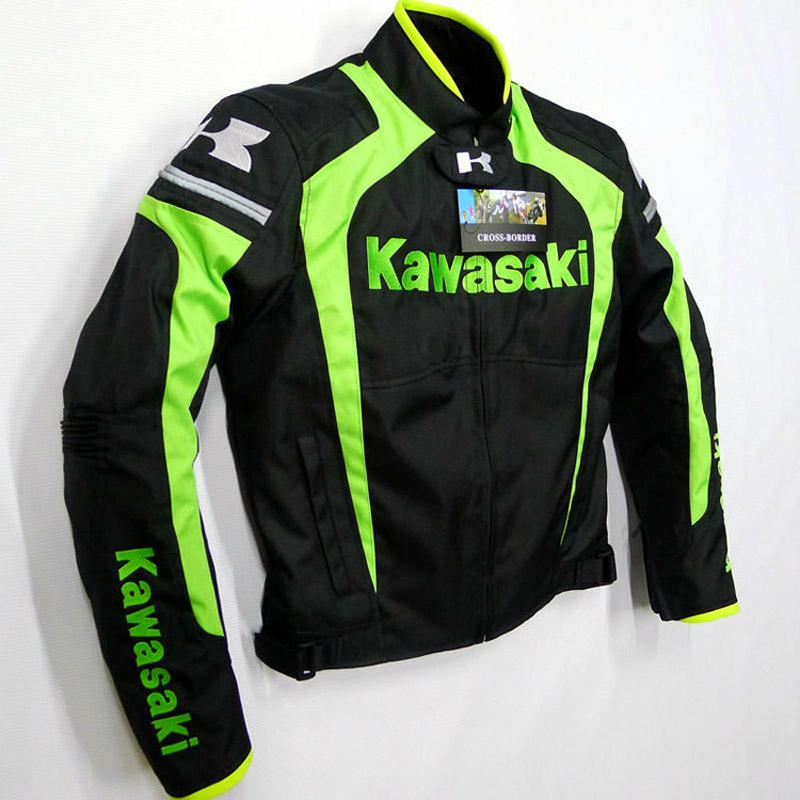Apparel & Accessories > Clothing > Activewear > Motorcycle Protective Clothing > Motorcycle Jackets - Kawasaki Men Motorcycle Racing Riding Windproof Warm Jacket Clothing