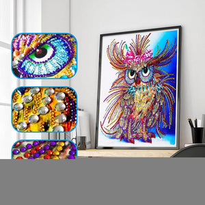 Arts & Entertainment > Hobbies & Creative Arts > Arts & Crafts > Art & Craft Kits - 5D Diamond Painting Kit Owl