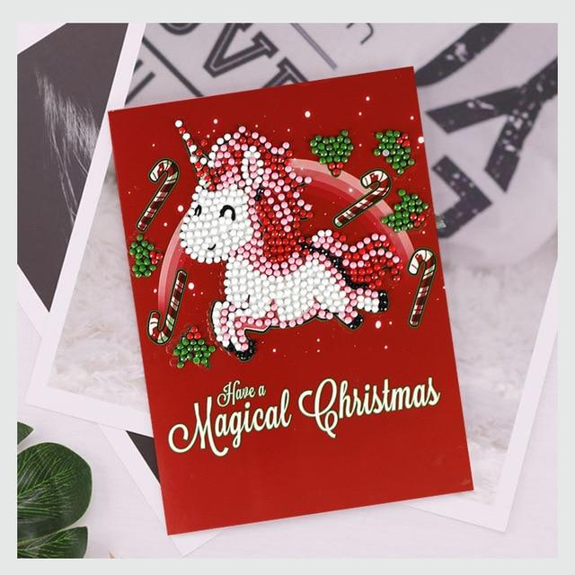 Arts & Entertainment > Hobbies & Creative Arts > Arts & Crafts > Art & Craft Kits - 5D DIY Diamond Painting Birthday And Christmas Greeting Cards
