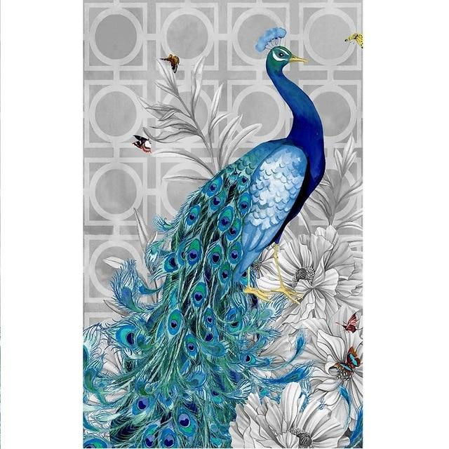 Arts & Entertainment > Hobbies & Creative Arts > Arts & Crafts > Art & Craft Kits - 5D DIY Diamond Painting Embroidery Peacock
