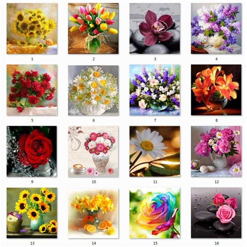 Arts & Entertainment > Hobbies & Creative Arts > Arts & Crafts > Art & Craft Kits - 5D DIY Diamond Painting Kit Flower Vase
