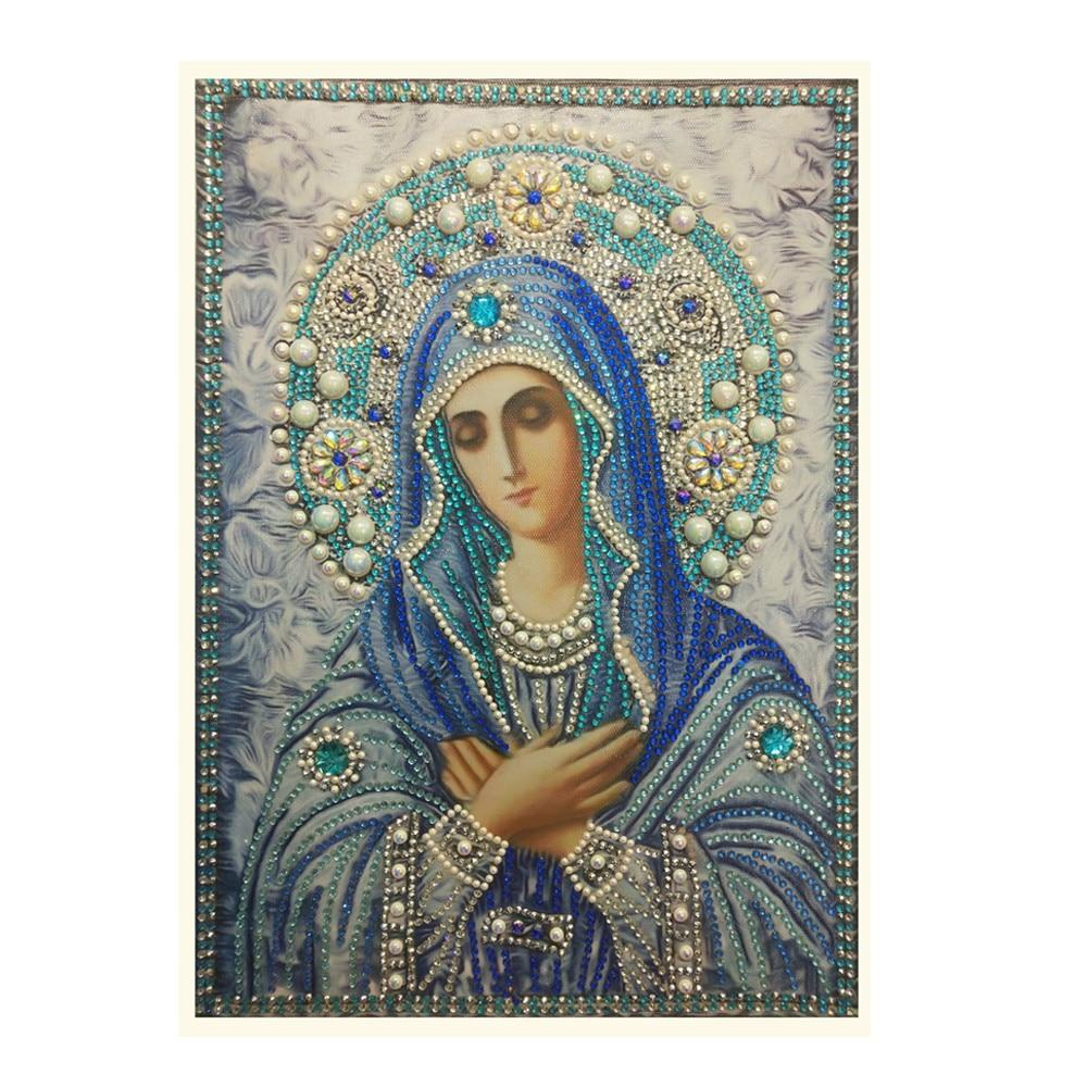 Arts & Entertainment > Hobbies & Creative Arts > Arts & Crafts > Art & Craft Kits - 5D DIY Diamond Painting Kit St. Mary