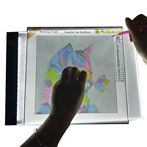 Arts & Entertainment > Hobbies & Creative Arts > Arts & Crafts > Art & Crafting Tools > Light Boxes - Diamond Painting A4 LED Adjustable Light Pad