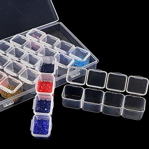 Arts & Entertainment > Hobbies & Creative Arts > Arts & Crafts > Craft Organization - 28 Slot Diamond Painting Storage Organizer Kit
