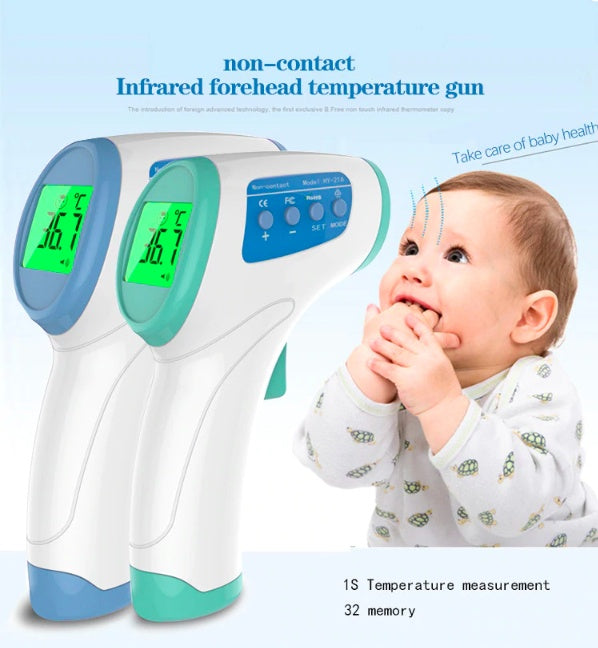 Baby & Toddler > Baby Health - Baby Infrared Forehead Temperature Thermometer Gun