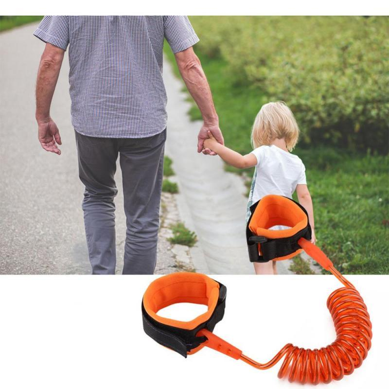 Baby & Toddler > Baby Safety > Baby Safety Harnesses & Leashes - Adjustable Kids Safety Harness Child Wrist Leash Anti-lost Link Children Belt Walking Assistant Baby Walker Wristband 1.5M