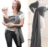 Baby & Toddler > Baby Transport > Baby Carriers - Double Ring Nylon Baby Sling Carrier