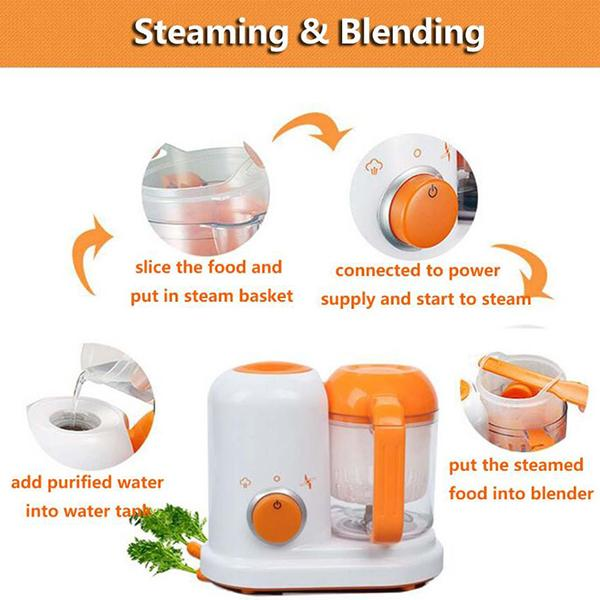 Baby & Toddler > Nursing & Feeding > Baby & Toddler Food > Baby Food - All In One Electric Baby Food Maker Toddler Blenders Steamer Processor With BPA Free Food Graded 200 - 250V (US PLUG)