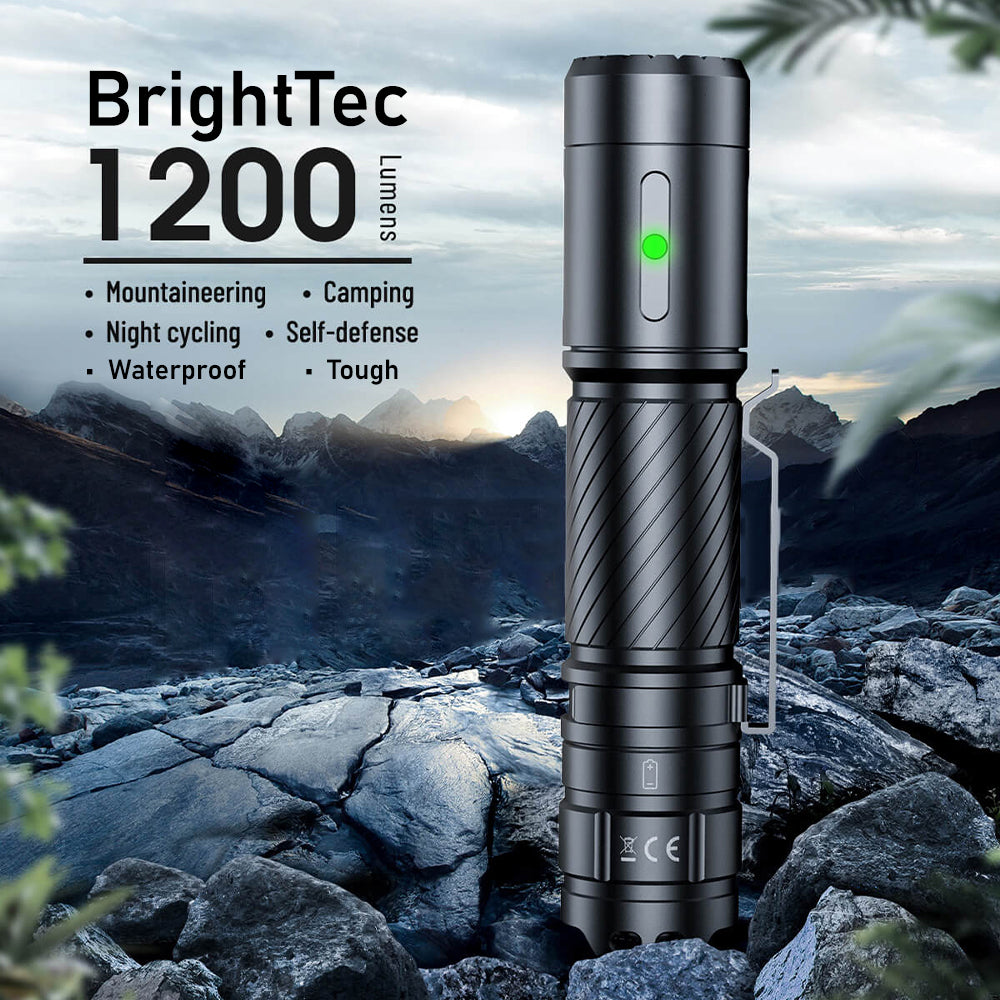 BrightTec High-Lumens Indestructible Waterproof Flashlight