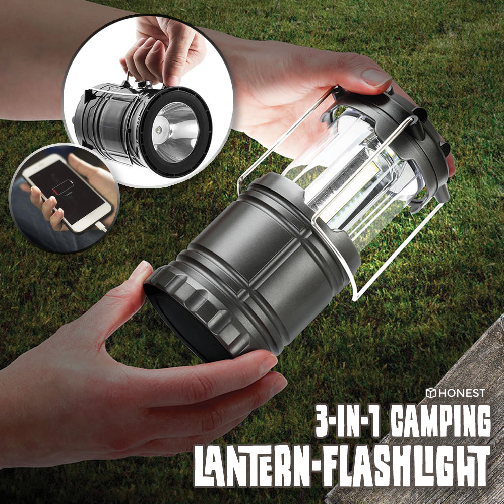3-in-1 Camping Lantern-Flashlight