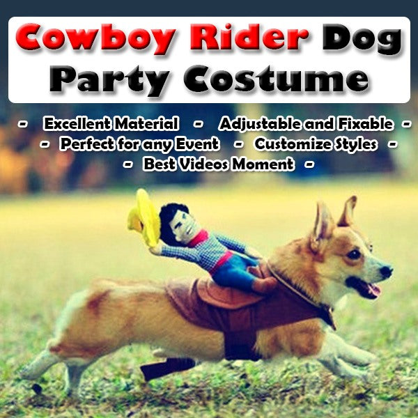 Cowboy Rider Dog Party Costume