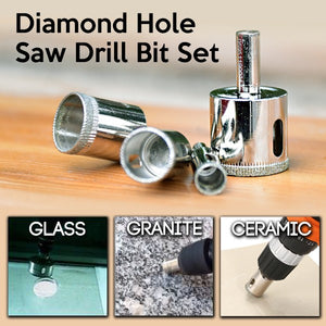 Diamond Hole Saw Drill Bit Set (16 Pcs)