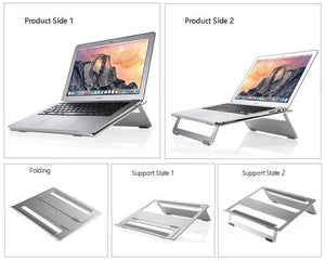 "Electronics > Electronics Accessories > Computer Accessories > Computer Risers & Stands - SeenDa Universal Aluminum MacBook Laptop Stand Tablet Holder Bracket Cooling Desk Pad For MacBook Pro Air 11"" To 17"""