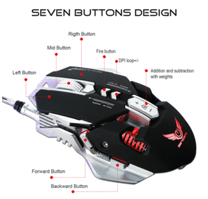 Electronics > Electronics Accessories > Computer Accessories > Handheld Device Accessories - USB Wired Competitive Gaming Mouse With Mechanical Programmable Buttons