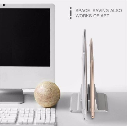 Electronics > Electronics Accessories > Computer Components > Laptop Parts - Vertical Laptop Stand 2-in-1 For MacBook/Surface/Samsung