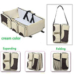 Furniture > Baby & Toddler Furniture > Cribs & Toddler Beds - 2 In 1 Multi-Function Portable Folding Outdoor Baby Travel Crib Bed And Nursery Bag For Infant Baby