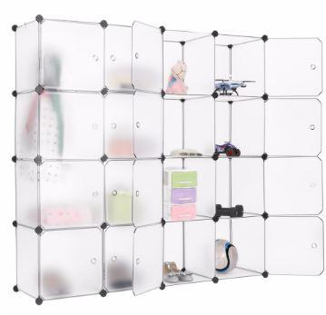 Furniture > Cabinets & Storage > Armoires & Wardrobes - Transparent Design Cube Wardrobe For Storage