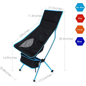 Furniture > Chairs > Folding Chairs & Stools - Portable Ultralight Chair Fishing Camping BBQ Extended Folding Stool