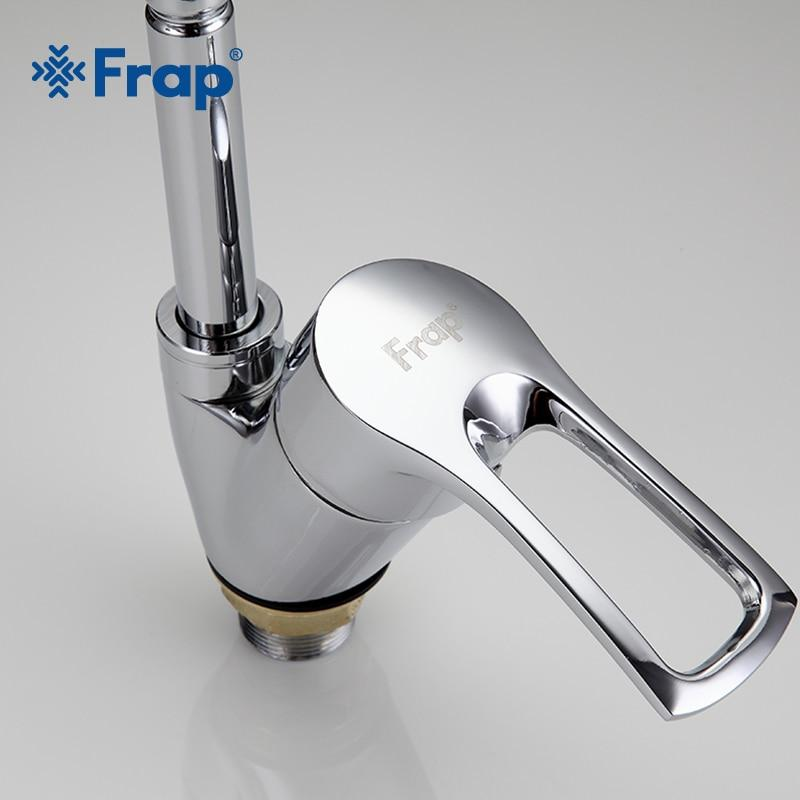 Hardware > Plumbing > Plumbing Fixtures > Faucets - FRAP Solid Kitchen Mixer Cold And Hot Flexible Kitchen Tap Single Lever