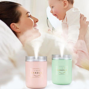Home & Garden > Household Appliance Accessories > Humidifier Accessories > Humidifier Filters - Himist 280ML Ultrasonic Candle Air Humidifier Purifier With Romantic Soft Light Essential Oil Diffuser