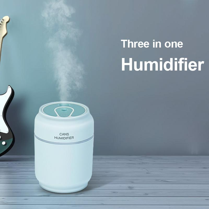 Home & Garden > Household Appliances > Climate Control Appliances > Humidifiers - Silent Mini Air Humidifier With LED Night Light Suitable For Babies And Kids Bedroom