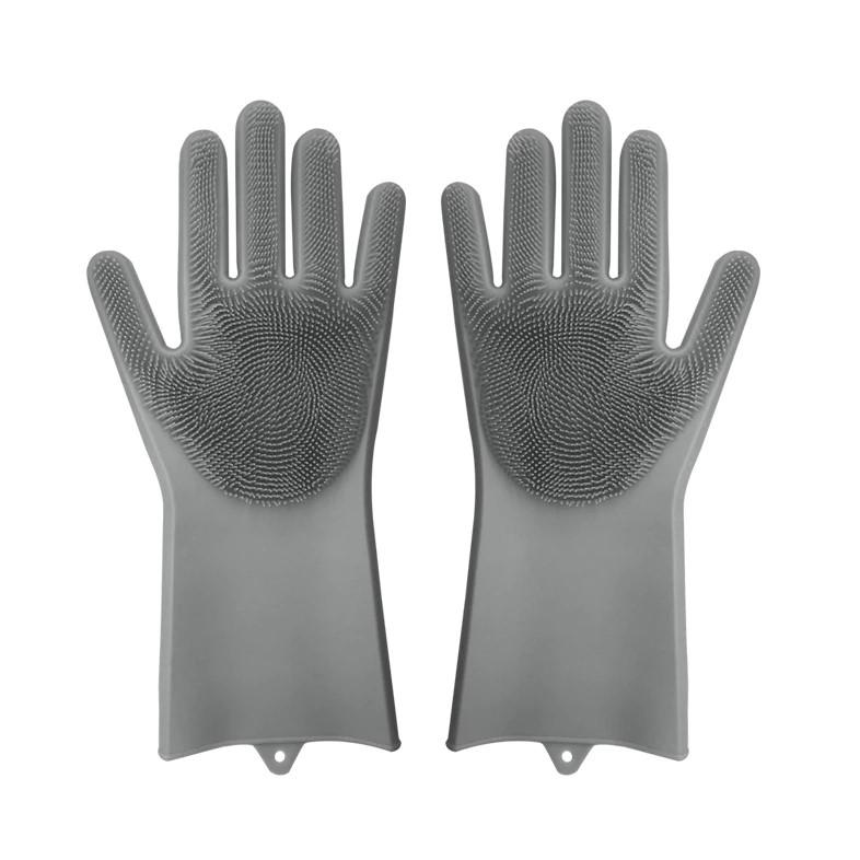 Home & Garden > Household Supplies > Household Cleaning Supplies > Cleaning Gloves - Kitchen Silicone Dish Washing And Cleaning Gloves