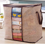 Home & Garden > Household Supplies > Storage & Organization > Clothing & Closet Storage > Closet Organizers & Garment Racks - Non-Woven Family Save Space Organizer Bed Under Closet Storage Box Clothes Divider Organizer Quilt Bag Holder Organizer