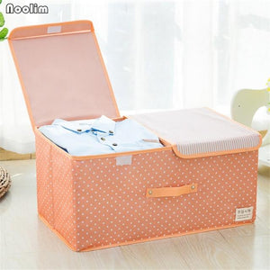 Home & Garden > Household Supplies > Storage & Organization > Household Storage Bags - NOOLIM Large Capacity Storage Box Container Middle Separation Closet Box Organizer