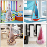 Home & Garden > Lawn & Garden > Outdoor Living > Hammocks - Children Colorful Hammock Cocoon Swing Chair Garden Furniture Hanging Seat Patio Portable