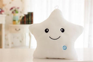 Kids Luminous Star Cushion Pillow Plush Doll Led Light Colorful Glowing Toys