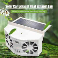 Solar Car Fan 2.0 - Duo Motor Heat Smoke Exhaust