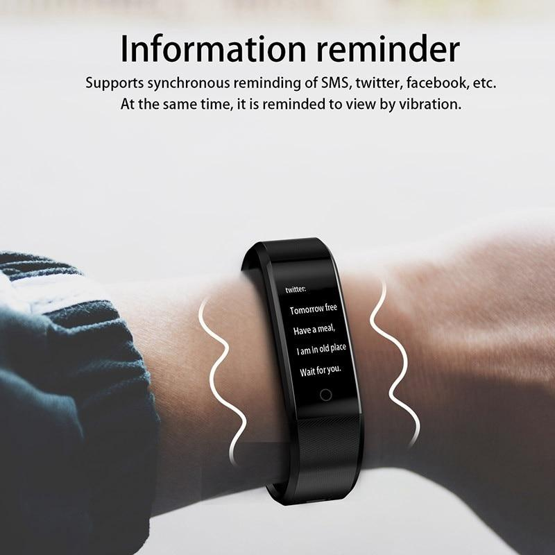 Sporting Goods > Exercise & Fitness - Waterproof Fitness Tracker Smartband For Sports