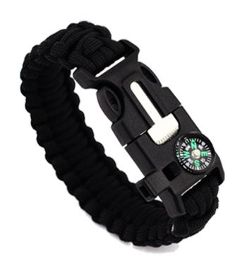 Sporting Goods > Outdoor Recreation > Camping & Hiking > Camping Tools > Multifunction Tools & Knives - Outdoor Survival Bracelet Men Women Braided Paracord