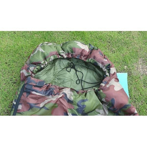 Sporting Goods > Outdoor Recreation > Camping & Hiking > Sleeping Bags - Cotton Camping Sleeping Bag Envelope Style Camouflage