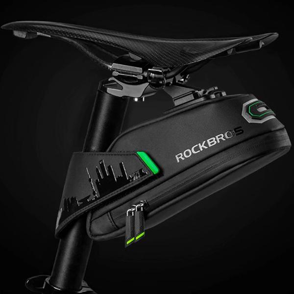 Sporting Goods > Outdoor Recreation > Cycling > Bicycle Accessories > Bicycle Bags & Panniers - ROCKBROS Rainproof And Shockproof Bicycle Rear Saddle Bag
