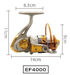 Sporting Goods > Outdoor Recreation > Fishing > Fishing Reels - Yumoshi Metal Spinning Fishing Reel
