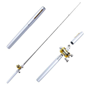 Sporting Goods > Outdoor Recreation > Fishing > Fishing Rods - Mini Telescopic Portable Fishing Rod & Reel Pen Shaped
