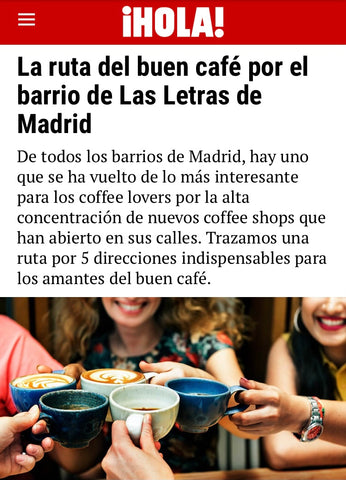 Hola Magazine best coffee shops in Las Letras neighborhood of Madrid, Spain