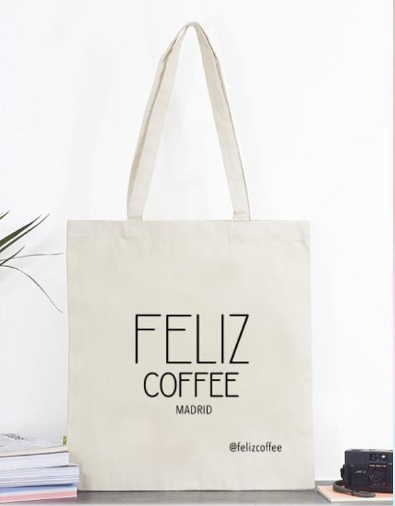 FELIZ Coffee Cotton Tote Bag